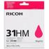 Ricoh GC31HM Original High Yield Magenta Gel Ink Cartridge