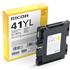 Ricoh GC41YL Original Yellow Gel Ink Cartridge