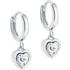 Ted Baker Hanniy Crystal Heart Hoop Earrings