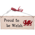 Proud To Be Welsh Hanging Sign