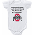 Ohio State Buckeyes Don't Bother Me Watching With Mommy Baby Onesie or Tee