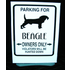 Beagle Parking Sign 12x9 in. With Stand