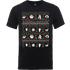 Disney The Nightmare Before Christmas Jack Sally Zero Faces Black T-Shirt - XL - Black