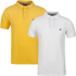 Soul Cal Mens 2 Pack Chemical Pique Polo-Shirt - White/Yellow - XS