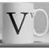 Alphabet Ceramic Mug - Letter V