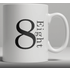Alphabet Ceramic Mug - Number 8