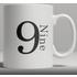 Alphabet Ceramic Mug - Number 9