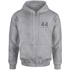 How Ridiculous 44 Club Zipped Hoody - Sports Grey - S - Grey