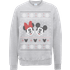 Disney Mickey Mouse Christmas Mickey And Minnie Grey Christmas Sweatshirt - M - Grey