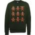 Star Wars Gingerbread Characters Green Christmas Sweatshirt - XXL - Green