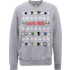 DC Comics Suicide Squad Character Faces Grey Christmas Sweatshirt - M - Grey