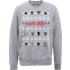 DC Comics Suicide Squad Character Faces Grey Christmas Sweatshirt - L - Grey