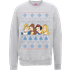 Disney Princess Christmas Princess Faces Grey Christmas Sweatshirt - S - Grey