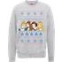 Disney Princess Christmas Princess Faces Grey Christmas Sweatshirt - M - Grey