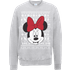 Disney Minnie Mouse Christmas Minnie Face Grey Christmas Sweatshirt - S - Grey