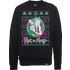 Rick And Morty Christmas Portal Mens Black Sweatshirt - S - Black