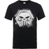 Marvel The Punisher Skull Badge Mens Black T-Shirt - S - Black