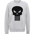 Marvel The Punisher Skull Logo Grey Mens Sweatshirt - L - Grey