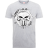 Marvel The Punisher Skull Badge Mens Grey T-Shirt - S - Grey