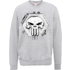 Marvel The Punisher Skull Badge Logo Grey Mens Sweatshirt - L - Grey