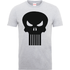 Marvel The Punisher Skull Logo Mens Grey T-Shirt - XL - Grey