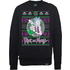 Rick And Morty Christmas Portal Mens Black Sweatshirt And Zavvi Exclusive Comic Bundle - L - Black