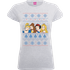 Disney Princesses Christmas Faces Womens Grey T-Shirt - L - Grey