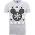 Disney Mickey Mouse Mickey Christmas Mens Grey T-Shirt - M - Grey