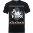 Disney Frozen Olaf And Snowmen Mens Black T-Shirt - L - Black