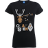 Disney Frozen Olaf And Snowmen Womens Black T-Shirt - L - Black