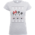 Disney Mickey And Minnie Mouse Christmas Womens Grey T-Shirt - S - Grey