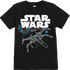 Star Wars The Last Jedi X-Wing Kids Black T-Shirt - 7 - 8 Years - Black