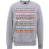The Nightmare Before Christmas Jack Pumpkin Faces Grey Sweatshirt - L - Grey