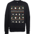 The Nightmare Before Christmas Jack Sally Zero Faces Black Sweatshirt - L - Black