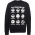 The Nightmare Before Christmas Jack Pumpkin Faces Black Sweatshirt - L - Black