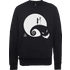 The Nightmare Before Christmas Jack And Sally Moon Black Sweatshirt - S - Black