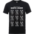 Star Wars Many Faces Of Darth Vader T-Shirt - Black - XXL - Black