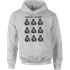 Star Wars Many Faces Of Darth Vader Pullover Hoodie - Grey - XXL - Grey