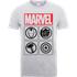 Marvel Avengers Assemble Icons T-Shirt - Grey - M - Grey