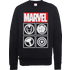 Marvel Avengers Assemble Icons Pullover Sweatshirt - Black - XL - Black