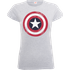 Marvel Avengers Assemble Captain America Distressed Shield Womens T-Shirt - Grey - L - Grey