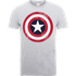 Marvel Avengers Assemble Captain America Distressed Shield T-Shirt - Grey - L - Grey