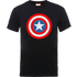 Marvel Avengers Assemble Captain America Simple Shield T-Shirt - Black - S - Black