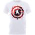 Marvel Avengers Assemble Captain America Art Shield Badge T-Shirt - White - L - White