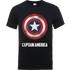 Marvel Avengers Assemble Captain America Shield Logo T-Shirt - Black - S - Black