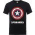 Marvel Avengers Assemble Captain America Shield Logo T-Shirt - Black - S - Black