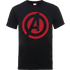 Marvel Avengers Assemble Captain America Logo T-Shirt - Black - L - Black