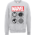 Marvel Avengers Assemble Icons Pullover Sweatshirt - Grey - XL - Grey