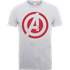 Marvel Avengers Assemble Captain America Logo T-Shirt - Grey - L - Grey