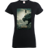 Black Panther Poster Womens T-Shirt - Black - L - Black